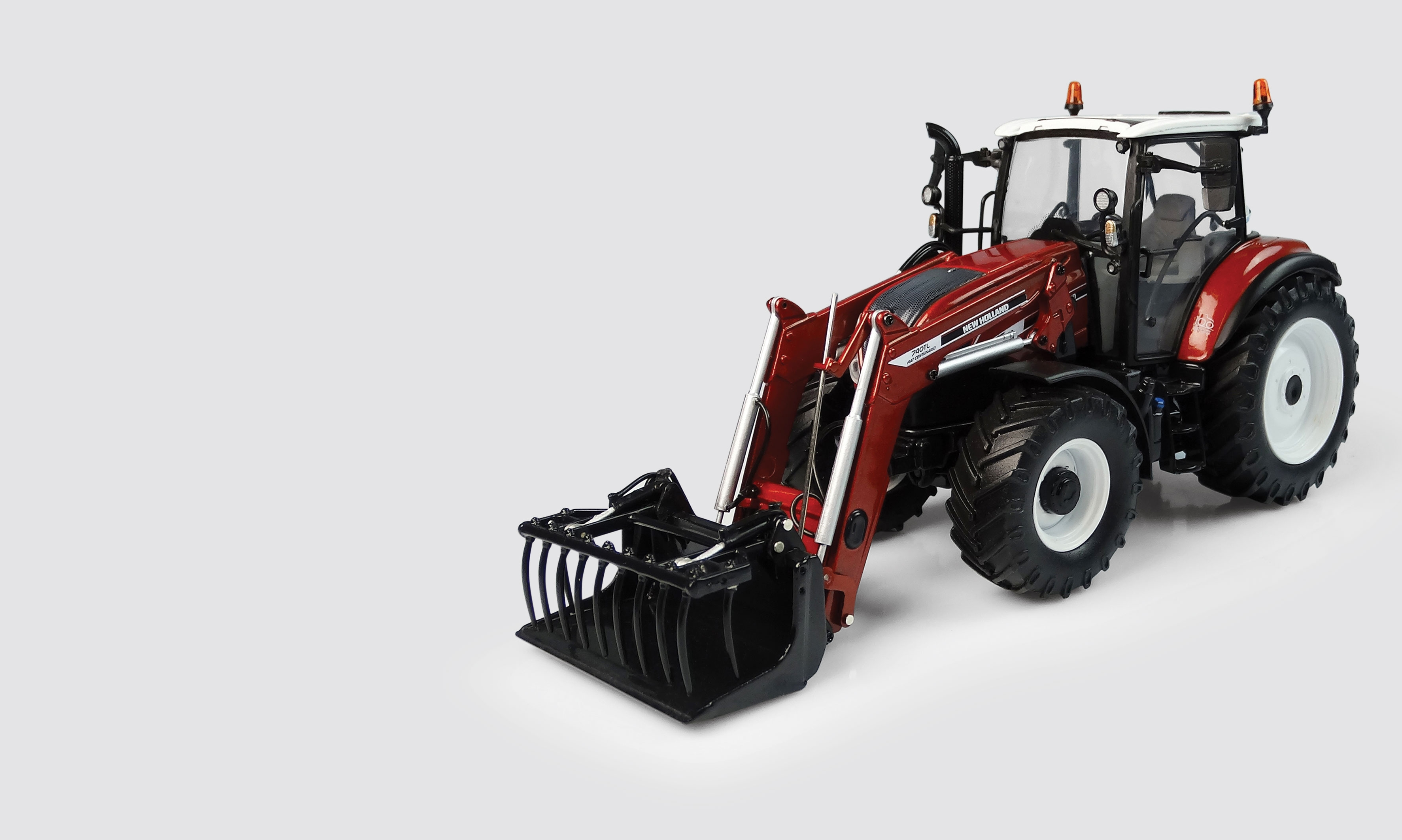 """New Holland T5.120 """"Centenario"""" with 740TL loader in Terracotta color"""